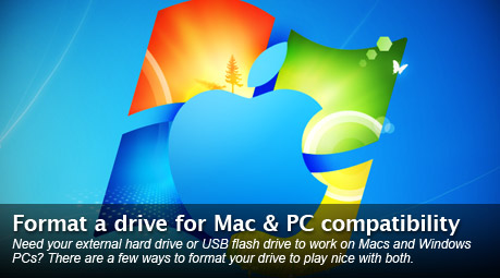 Format a Mac & PC compatible drive