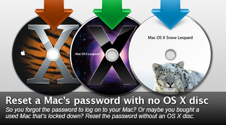 Reset Mac password without OS X disc