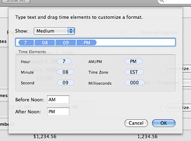 Modify the default clock in OS X's menu bar to show the full date
