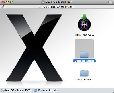 Reinstall bundled apps from Leopard disc without reinstalling OS X