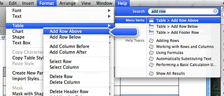 Searchable menu items in Leopard