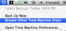 Browse other Time Machine volumess
