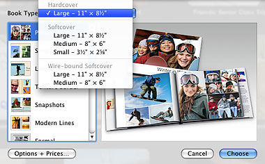 iPhoto print products