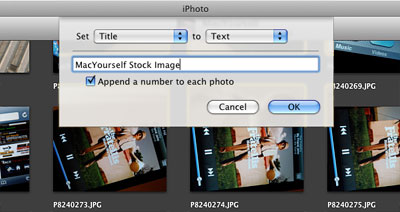 Batch Change images in iPhoto
