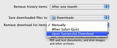 Tidy up your Downloads list in Safari