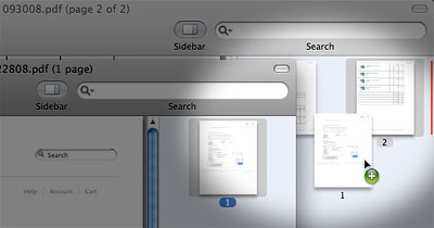 Merge and rearrange PDFs in Preview