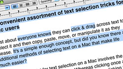 A convenient assortment of text selection tricks for Mac users