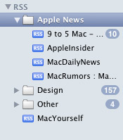 Organizing RSS feeds with mailboxes in Apple Mail
