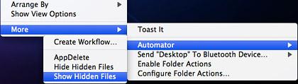 Show hidden files on Mac