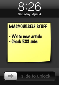 Sticky Notes for iPhone and iPod touch