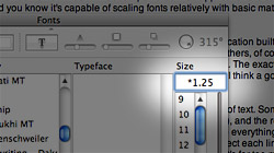 Scale text proportionally in OS X with mathematical expressions