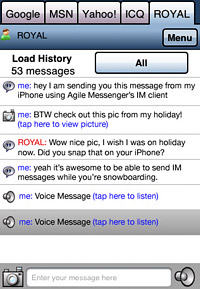 Agile Messenger for iPhone