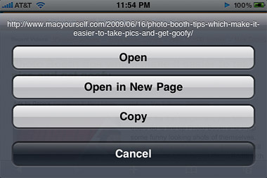 iPhone 3.0 – Open link in new window in Safari