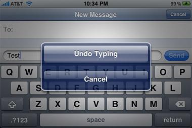 iPhone 3.0 – Shake to undo