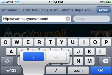 iPhone 3.0 – Keyboard advancements