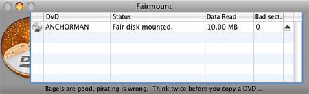 Back up DVDs on your Mac with Fairmount
