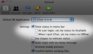Continue receiving messages after quitting iChat