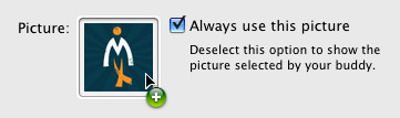 Change a buddy's picture in iChat