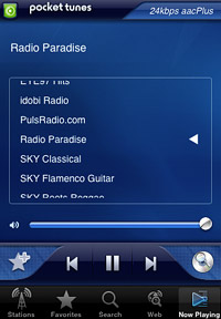 Pocket Tunes Radio for iPhone and iPod touch