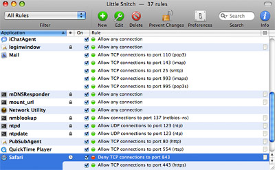 Little Snitch: Outgoing firewall for Mac