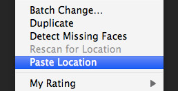 iPhoto copy and paste location