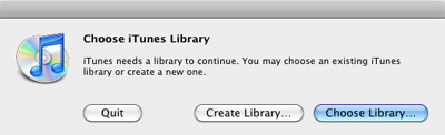Manage multiple iTunes libraries