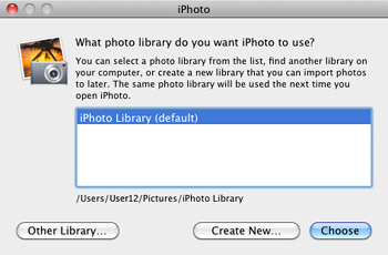 Manage multiple iPhoto libraries