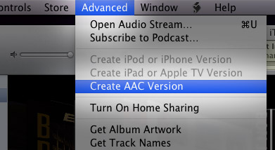 Convert to AAC and MP3 in iTunes