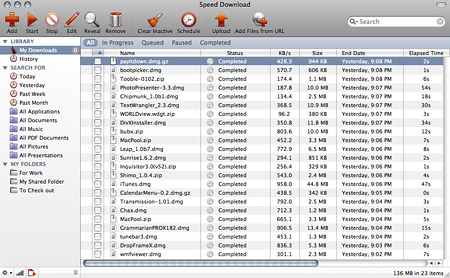 Speed Download - Download manager for Mac OS X