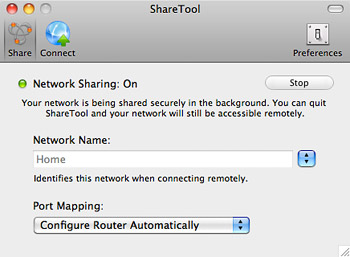 ShareTool - Remotely access your Mac home network