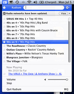 Radium - Listen to internet radio on your Mac menu bar