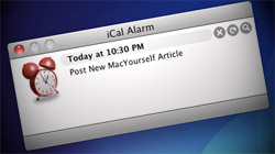 Change or silence the default alarm sound for iCal events