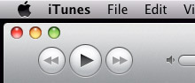 Horizontal traffic lights in iTunes 10