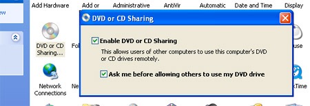 Remote disc sharing from Windows PC