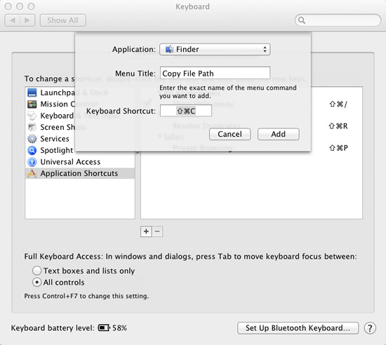 Copy file path to clipboard in Mac OS X 10.7 Lion
