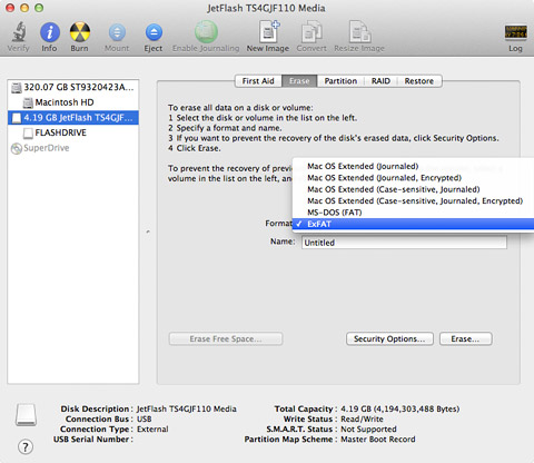 How to format a USB drive on a Mac